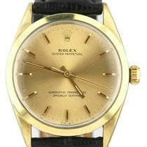 Rolex Oyster Perpetual 34 Yellow gold 34mm Champagne United States of America, New York, Lynbrook