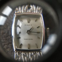 Rolex White gold Manual winding 13mm pre-owned Oyster Precision