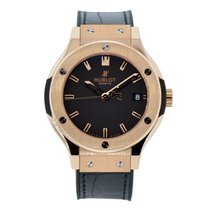Hublot Ladies Classic Fusion 38mm Rose Gold Watch Leather Strap