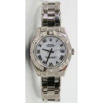 Rolex Masterpiece 80319 Ladies 18K White Gold w/Factory White...