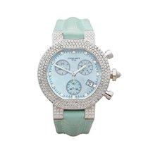 Chaumet Style De Chaumet Diamond Chronograph 18K White Gold...