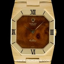 Rolex 18k Yellow Gold Rare Wood Dial Cellini Vintage Gents 4350