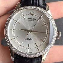 Rolex Cellini Time, Ref. 50709RBR - rhodium  Zifferblatt