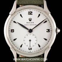 Rolex S/Steel Silver Dial Shock Resisting Vintage Gents 4498