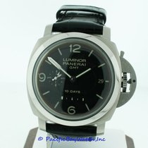 Panerai Luminor 1950 10 Days GMT pre-owned 44mm Black Date Year GMT Crocodile skin