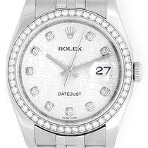 Rolex Datejust Diamond Bezel and Dial Men's Steel Watch 116244