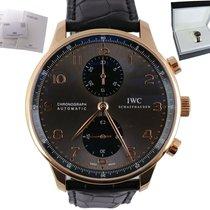 IWC pre-owned Automatic 41mm Grey Sapphire Glass