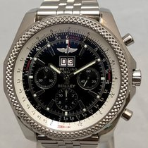Breitling Bentley 6.75 pre-owned 48mm Black Chronograph Date Steel