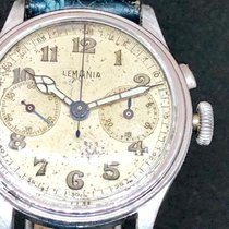 Lemania Steel Manual winding White Arabic numerals pre-owned