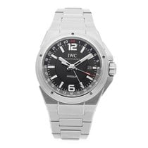 IWC Ingenieur Dual Time Stal 43mm Czarny Arabskie