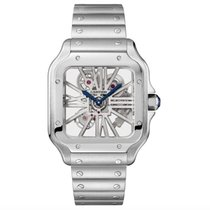 Cartier Santos (submodel) Steel 39.8mm Transparent Roman numerals United States of America, Florida, Sunny Isles Beach