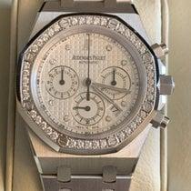Audemars Piguet White gold Automatic White Arabic numerals 39mm new Royal Oak Chronograph