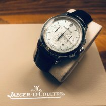 Jaeger-LeCoultre Master Chronograph pre-owned 40mm Silver Chronograph Date Crocodile skin