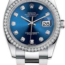 Rolex Keramiek Automatisch Blauw 36mm tweedehands Datejust