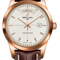 Breitling Transocean Day & Date Rose gold 43mm Silver No numerals United States of America, New Jersey, Princeton