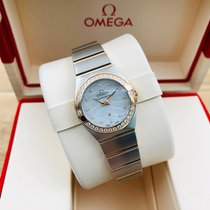 Omega Constellation Quartz Goud/Staal 24mm Wit