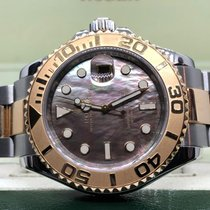 Rolex Yacht-Master 40 Gold/Steel 40mm Mother of pearl No numerals