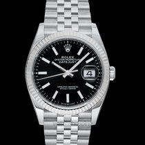 Rolex White gold Automatic Black 36mm new Lady-Datejust