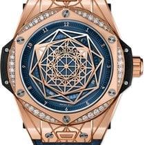 Hublot Big Bang Sang Bleu Rose gold 39mm Blue United States of America, New York, Airmont