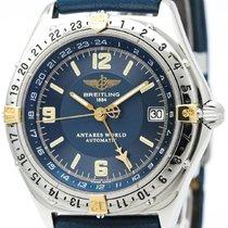 ブライトリング (Breitling) Antares World 18k Gold Steel Automatic...