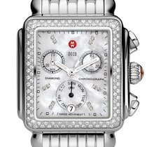 Michele Deco Diamond Classic in Stainless Steel MOP Dial...
