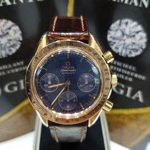Omega Speedmaster chronograph rose gold  rare blue dial