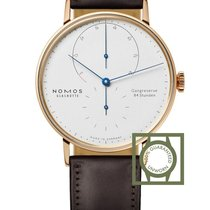 NOMOS Rose gold Manual winding White No numerals 39mm new Lambda