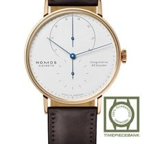 NOMOS Lambda Rose gold 39mm White No numerals