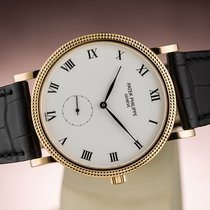 Patek Philippe CALATRAVA SUB SECOND CLOUS DE PARIS YELLOW GOLD...