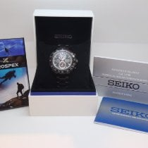 Seiko Steel Quartz Black No numerals 45mm new Sportura