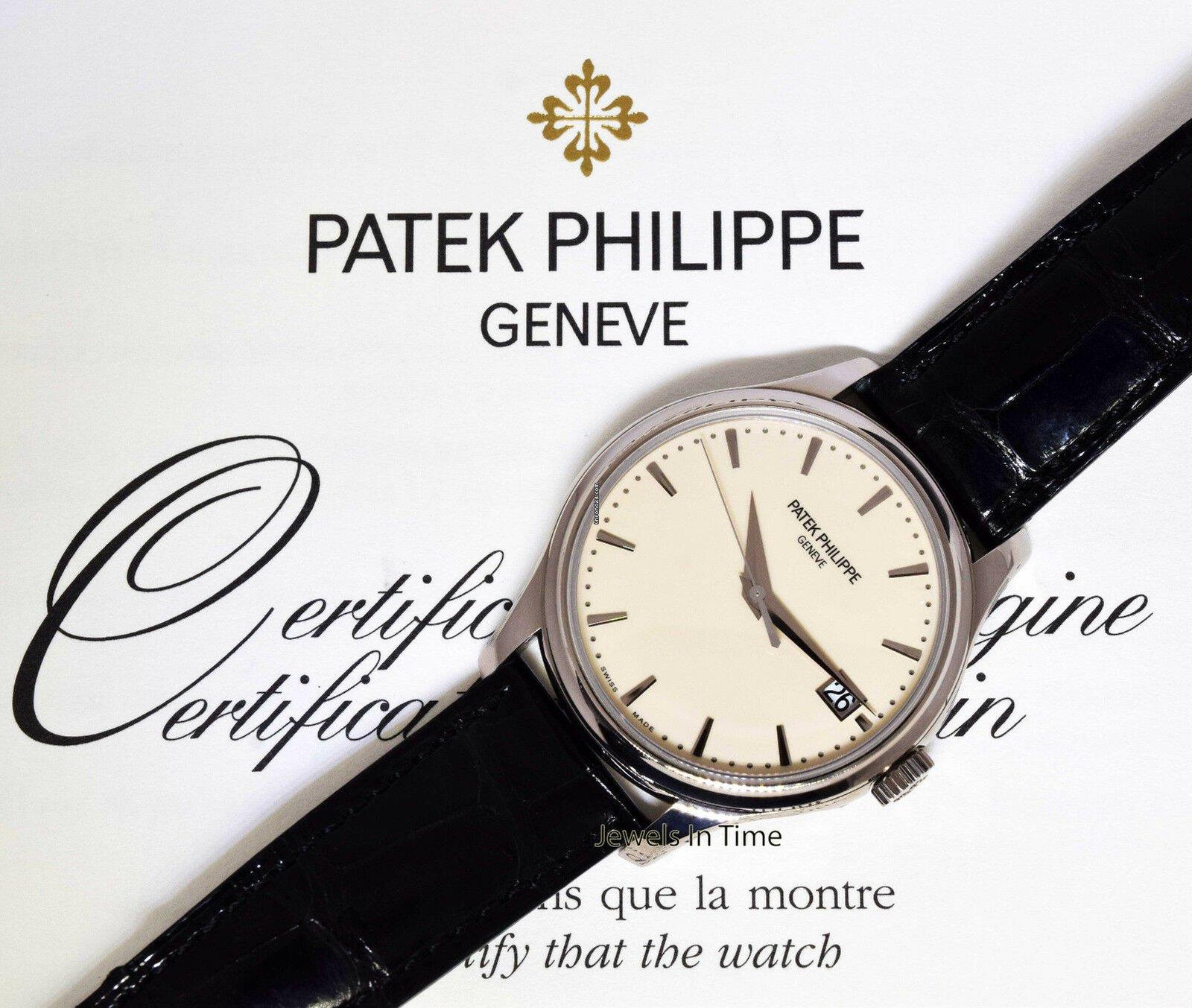 Patek Philippe Calatrava 5227 18k White Gold Mens Watch For