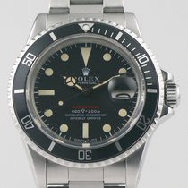 Rolex Submariner Date Staal 39mm Zwart Geen cijfers