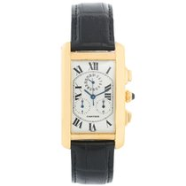 Cartier Tank Américaine Yellow gold 45mm Champagne Roman numerals