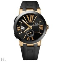 Ulysse Nardin Rose gold Automatic Black 43mm new Executive Dual Time