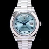 Rolex Day-Date II Platin 41mm Blau Römisch