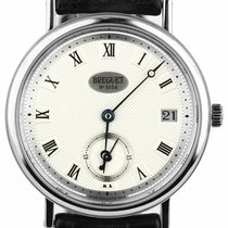 Breguet pre-owned Automatic 34mm Silver Sapphire crystal
