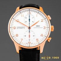 IWC Portugieser  Chronograph  IW371480 18K Rose Gold Box&Papers