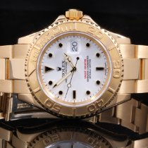 Rolex 16628 18K YG Yacht-Master - White Dial with Papers