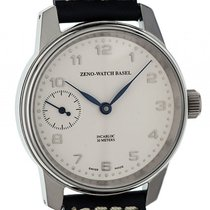 Zeno-Watch Basel Classic Retro Stahl Handaufzug Armband Leder...