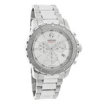 Movado Series 800 Mens Silver Swiss Quartz Chronograph Watch...