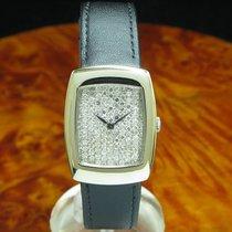 DeLaneau 18kt 750 Gold Handaufzug Damenuhr Diamant Zifferblatt