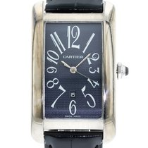 Cartier Tank Américaine pre-owned 27mm Blue Date Leather