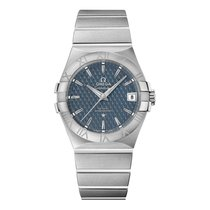 Omega Constellation Ladies Steel 35mm Blue Roman numerals