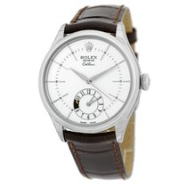 Rolex Cellini Dual Time White gold 39mm Silver United States of America, Georgia, Atlanta
