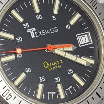 Texswiss Quartz 10ATM Date Oversize 47mm Compass Swiss Made 1980 použité