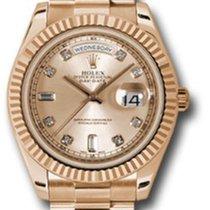Rolex Day-Date II pre-owned 41mm Date Rose gold