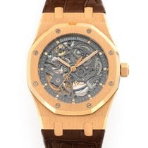 Audemars Piguet Red gold Automatic Transparent 39mm pre-owned Royal Oak Selfwinding