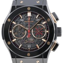 Hublot Classic Fusion pre-owned 45mm Black Chronograph Date Rubber