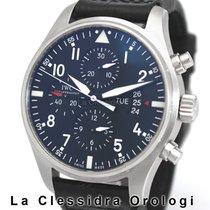 IWC Pilot Chronograph Acciaio 43mm Nero Arabo Italia, Milano