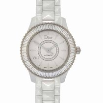 Dior White gold Automatic White 33mm new VIII